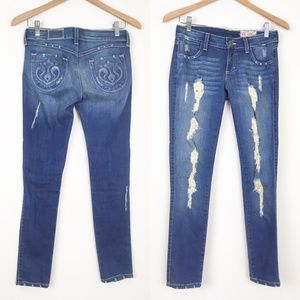 SIWY Hannah Slim Crop Jeans Stretch Denim Frayed